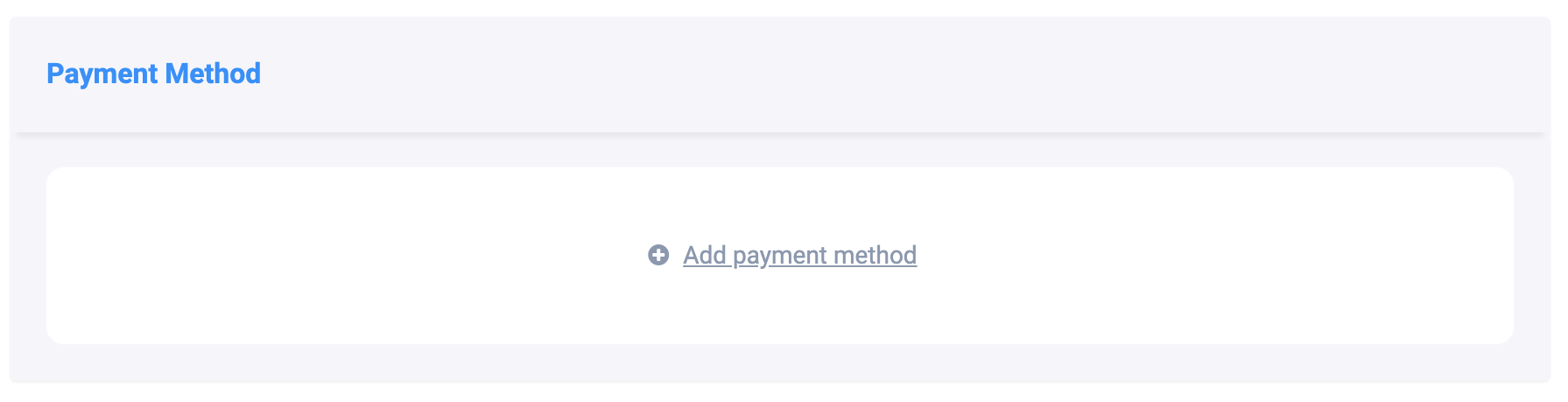 AudioGO Add Payment Method